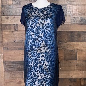 NWOT Vince Camuto Animal Print Shift Dress sz:12